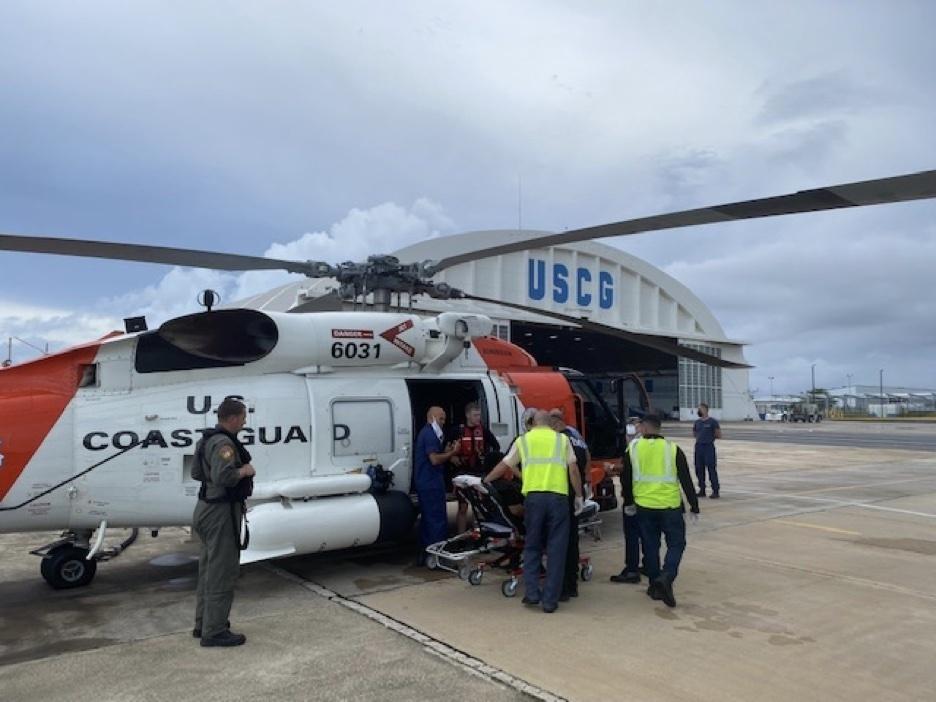 Coast Guard Air Station Borinquen aircrew rescues swimmer in distress in Aguadilla, Puerto Rico