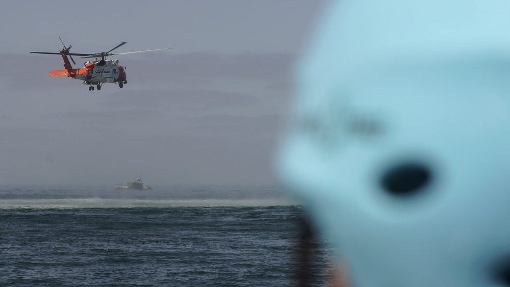 Coast Guard and partner agencies conduct mass rescue exercise off the San Diego coast