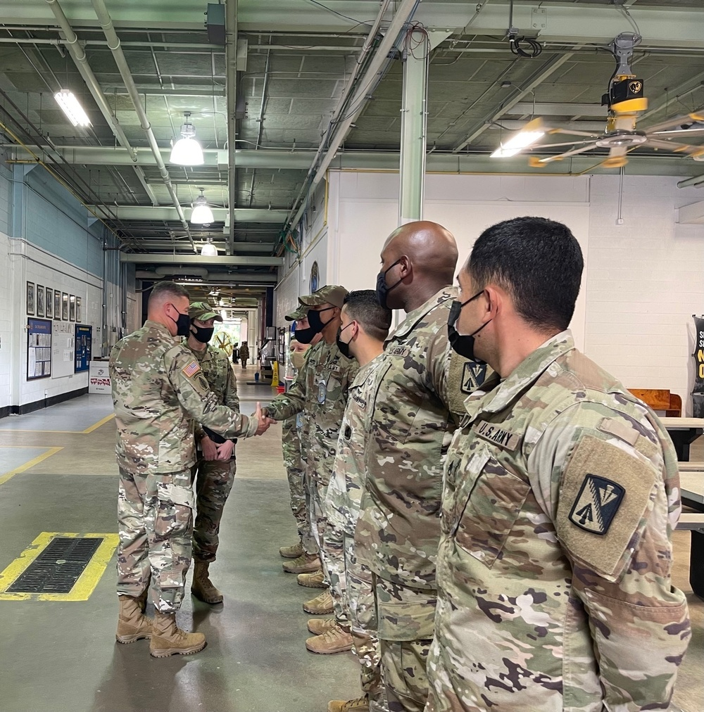 Visit from USAACE Deputy Commander Brig. Gen. Budraitis