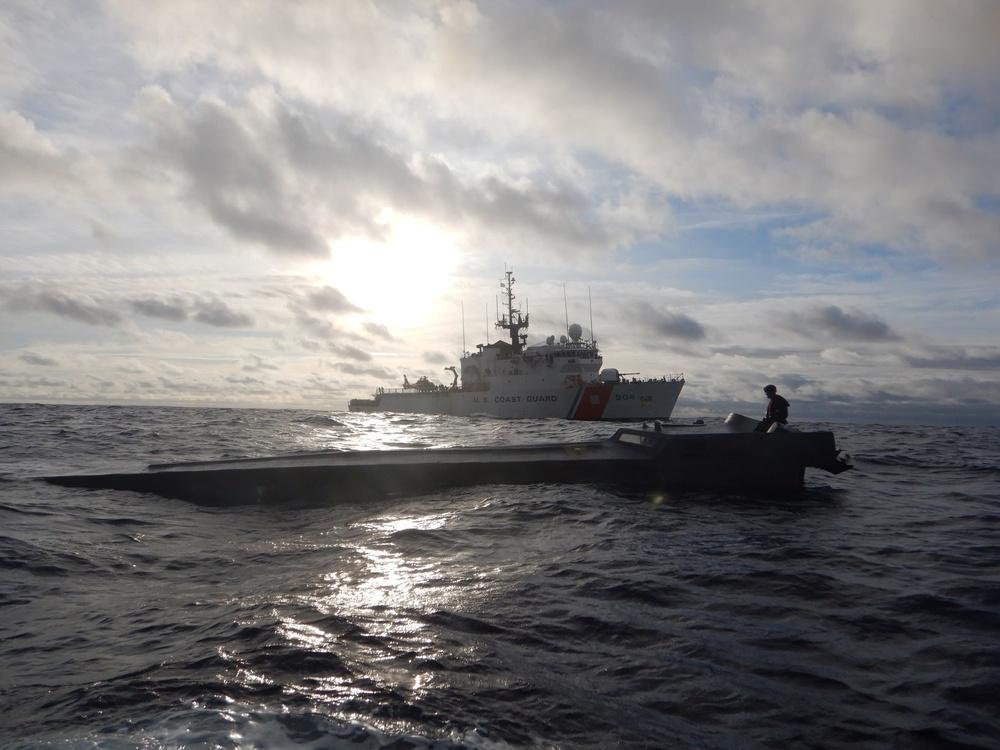 USCGC Northland interdicts a low profile vessel