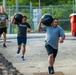 Kentucky Army National Guard Soldiers completed a medicine ball team relay exercise at CrossFit Frankfort in Frankfort, Kentucky on Sept. 9th, 2021.