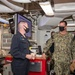 Deputy Commander, U.S. 7th Fleet, Rear Admiral Erik Eslich visits USS Higgins.