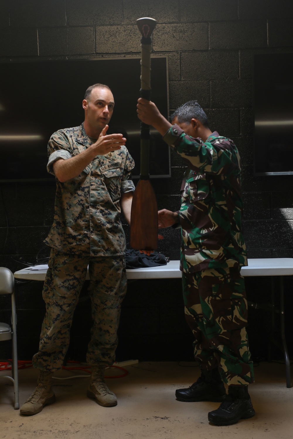 Indonesian Marines visit 1st Marine Division for a military exchange