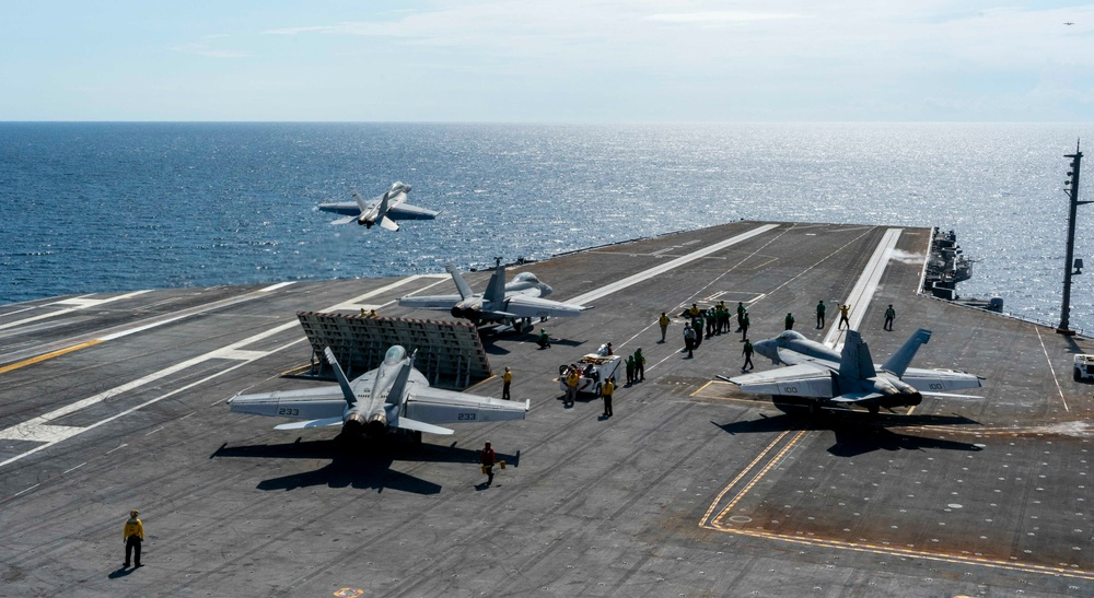 GHWB Conducts Flight Deck Certification