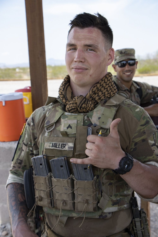 Soldier going to Jungle Warfare School