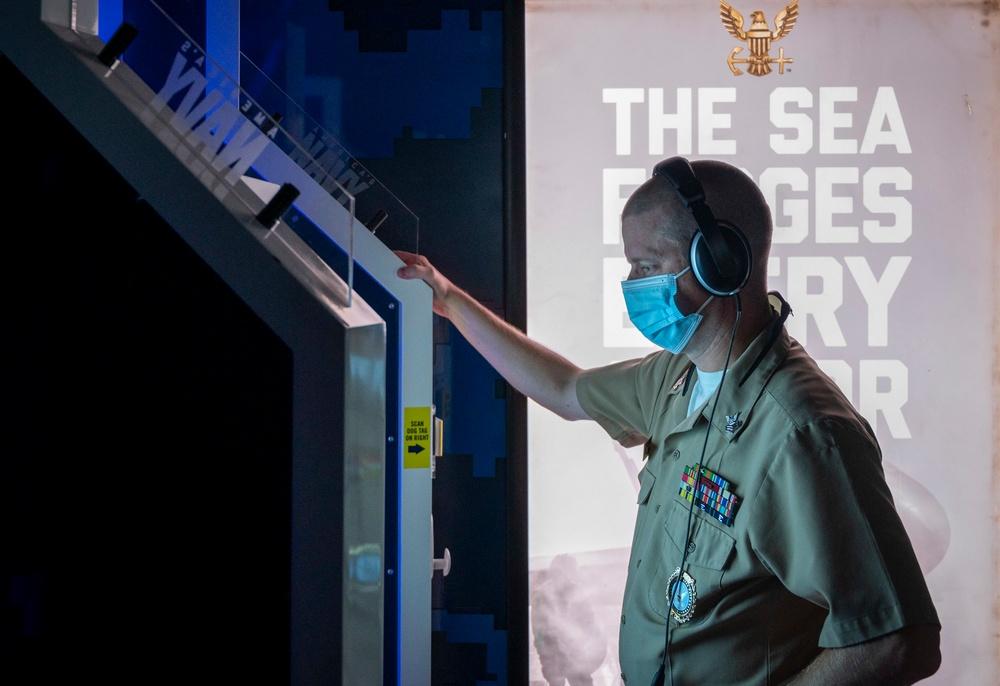 The Nimitz virtual setup at Delaware Military Academy