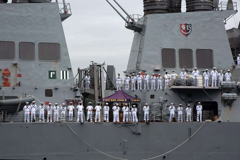 USS John S. McCain departs Yokosuka