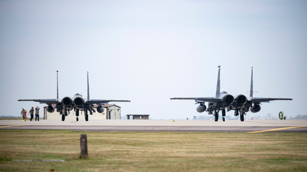 The 48th Fighter Wing participates in Ample Strike 21