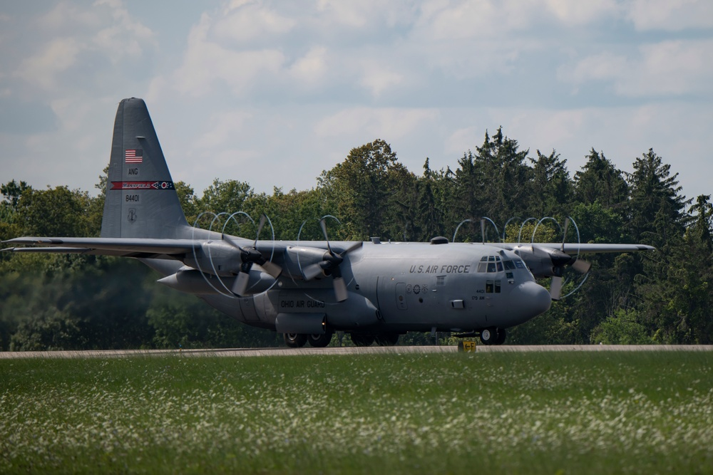 C-130H flying at the 179th Airlift Wing
