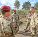 U.S. Army Europe-Africa visits with the 1-143 Airborne during Falcon Leap 2021