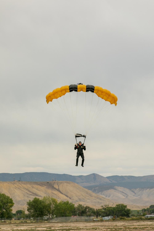 U.S. Army Golden Knights jump in Colorado