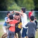 U.S. Marine Plays Soccer with Afghan Children