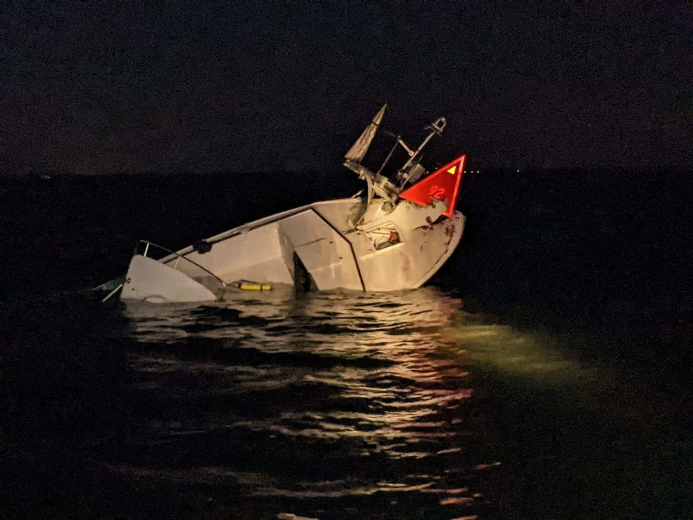 Coast Guard, Beach Haven Volunteer Fire Department rescue 6 from boat crash near Ham Island, N.J.