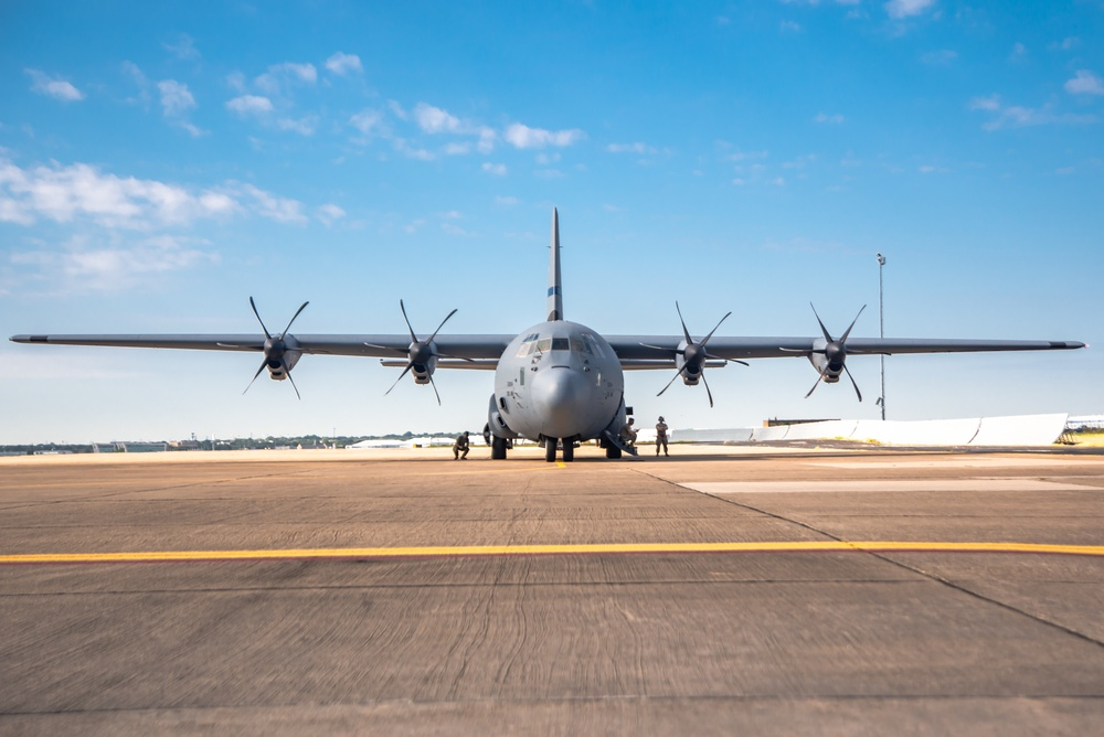 136AW flies inaugural two-ship formation with C-130J Super Hercules
