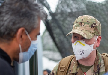 U.S. Air Force Master Sgt. Christopher Hinchee Translates for Afghans