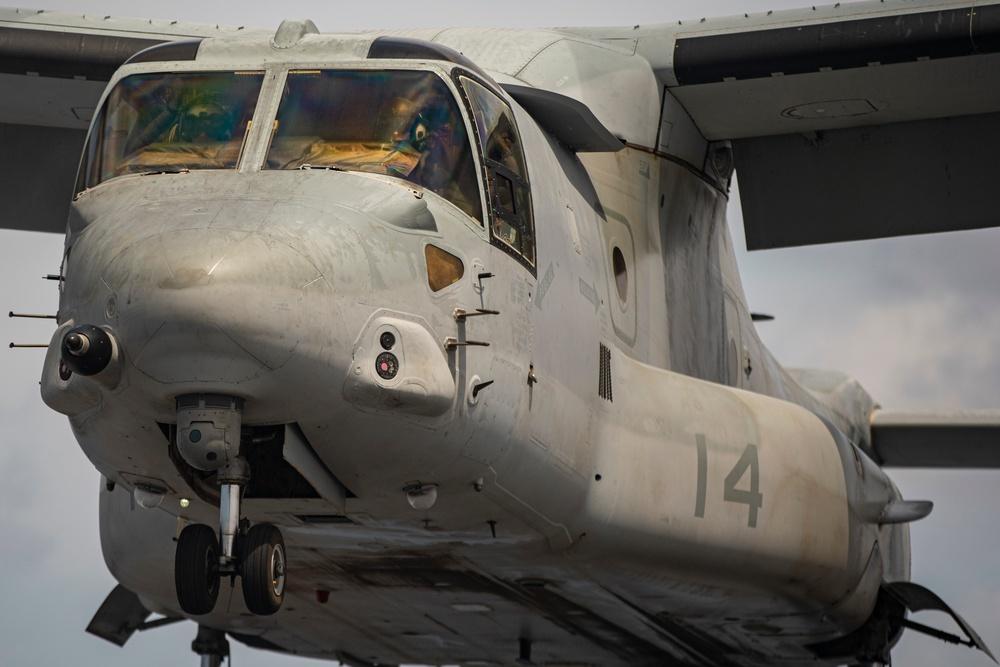 Osprey Flight Ops aboard USS Portland