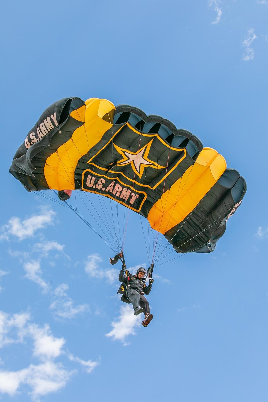 U.S. Army Parachute Team jumps in Colorado