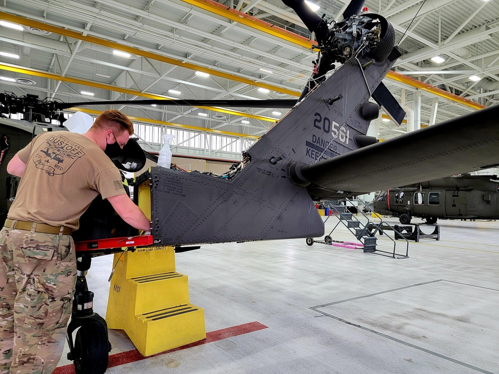 Michigan National Guard Aviation maintainers execute maintenance operations