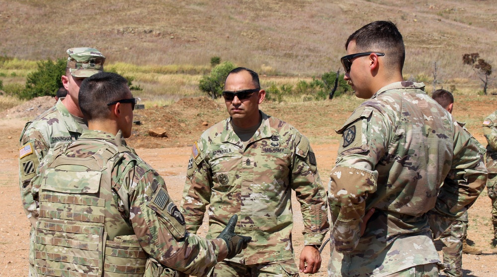 U.S. Army EOD technicians train with Multiple Launch Rocket System unit on Fort Sill