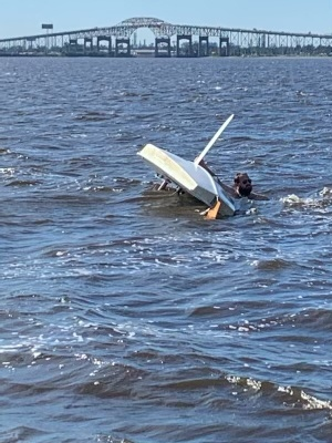 Coast Guard rescues 1 after vessel capsizes in Lake Charles, Louisiana