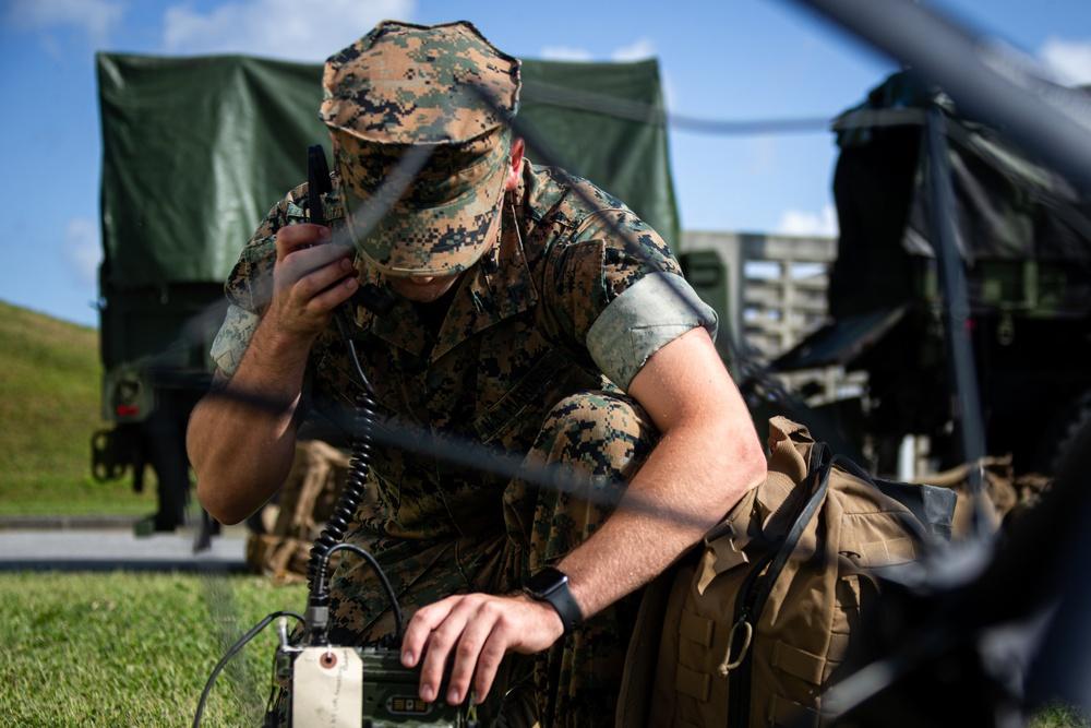 U.S. Marines conduct an ACM Drill