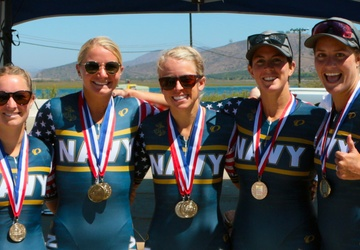Navy Sweeps Men and Women Team Golds at 2021 Armed Forces Triathlon