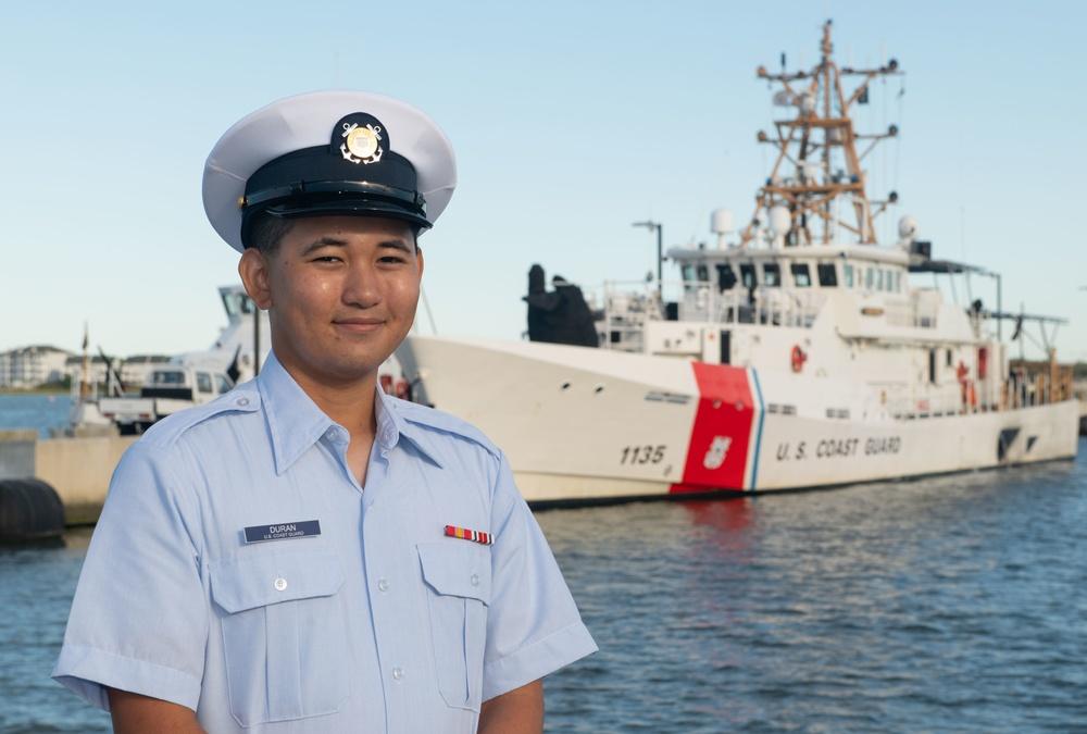 Seaman Joshua Duran earns Coast Guard Honor Graduate for boot camp company Charlie-201