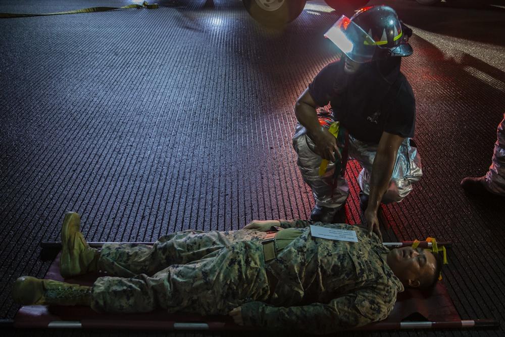 Task Force Koa Moana 21 Participates in a Mass CASEVAC Exercise