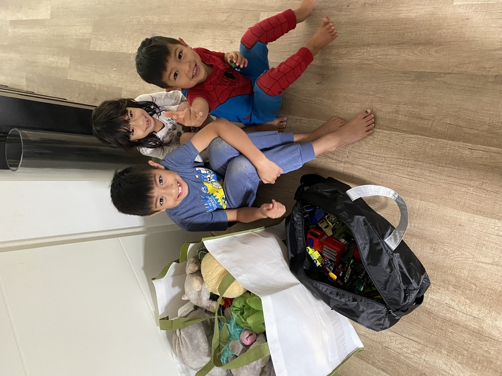 Military family helps evacuees transition to new life