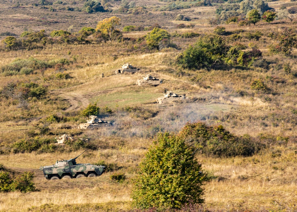 1st Infantry Division builds multinational partnerships with allied training in Romania