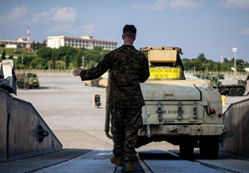U.S. Marines load and offload HIMARS during Exercise Noble Jaguar 2021