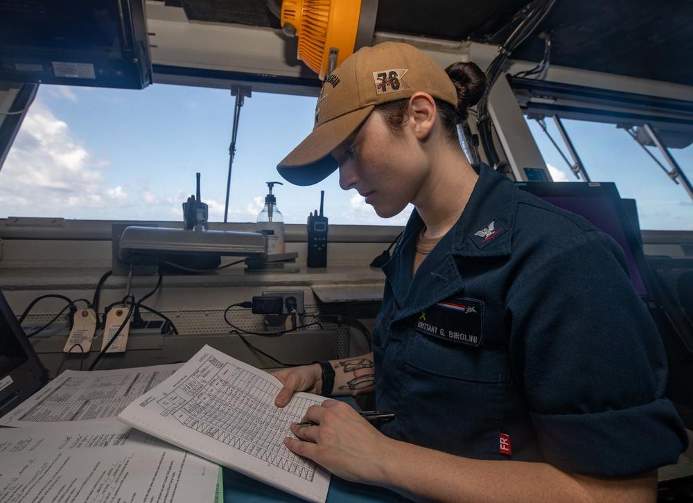 USS Ronald Reagan (CVN 76) Watchstanding and Navigation