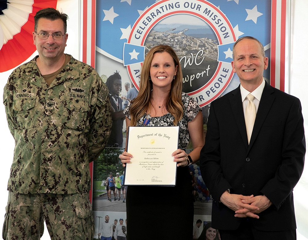 NUWC Division Newport employees receive Department of Navy Civilian Service Awards