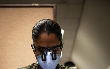 U.S. Navy Dental Officer provides dental assistance on Task Force Quantico [Image 3 of 3]
