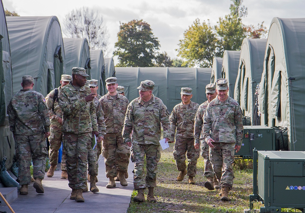 Maj. Gen. James Smith visits 50th Regional Support Group in Poland