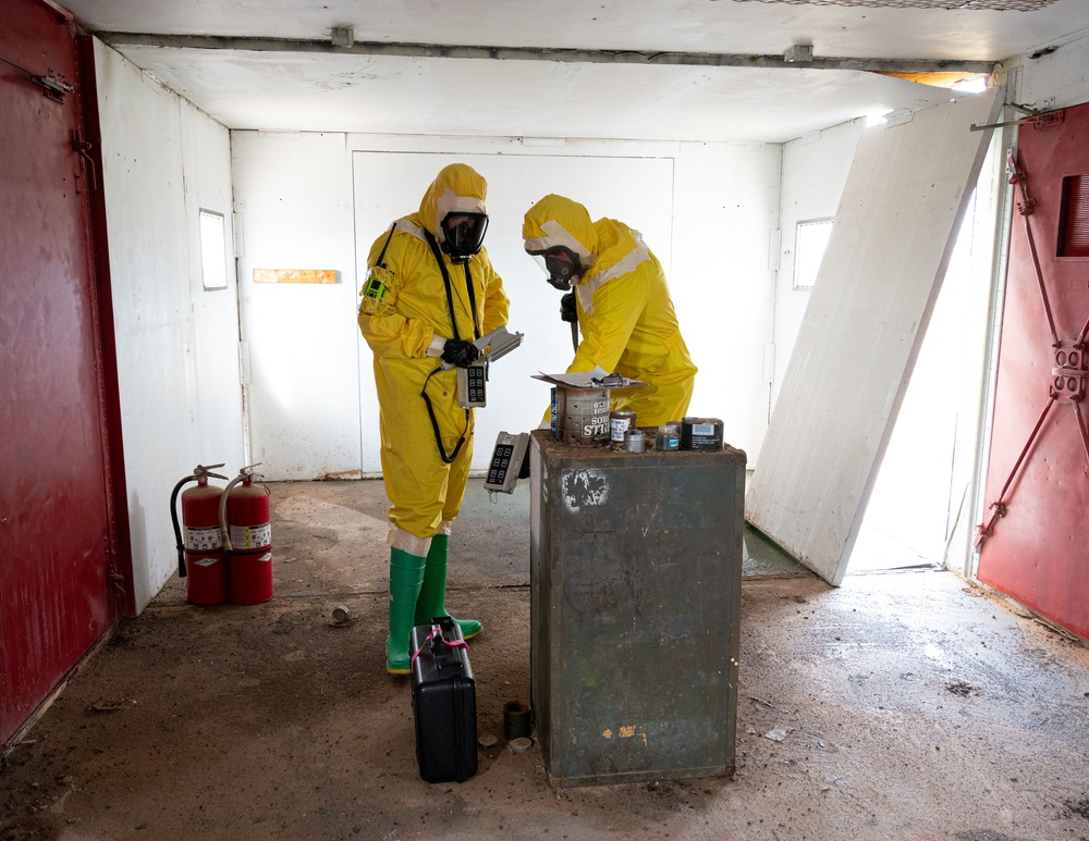 Emergency management Airmen hold radiological survey exercise