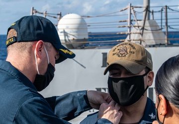 Pinning Ceremony Conducted Aboard USS Michael Murphy (DDG 112)
