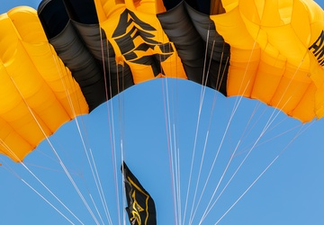 U.S. Army Parachute Team jumps in Huntington Beach