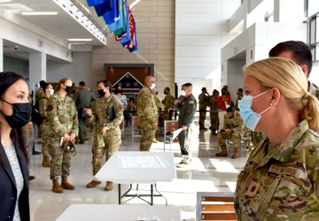 USECAF receives insight into COVID-19 vaccinations at Reserve wing
