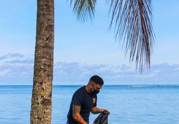 U.S. Naval Base Guam Sailors Gather for Piti Beach Clean Up