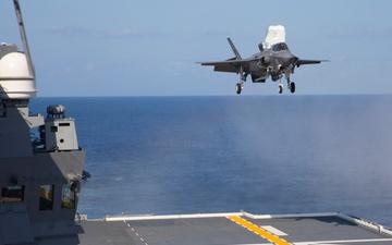 U.S. Marine Corps F-35B Lands on JS Izumo [Image 35 of 35]