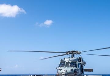 USS Charleston (LCS 18) Sailors Conduct Flight Operations