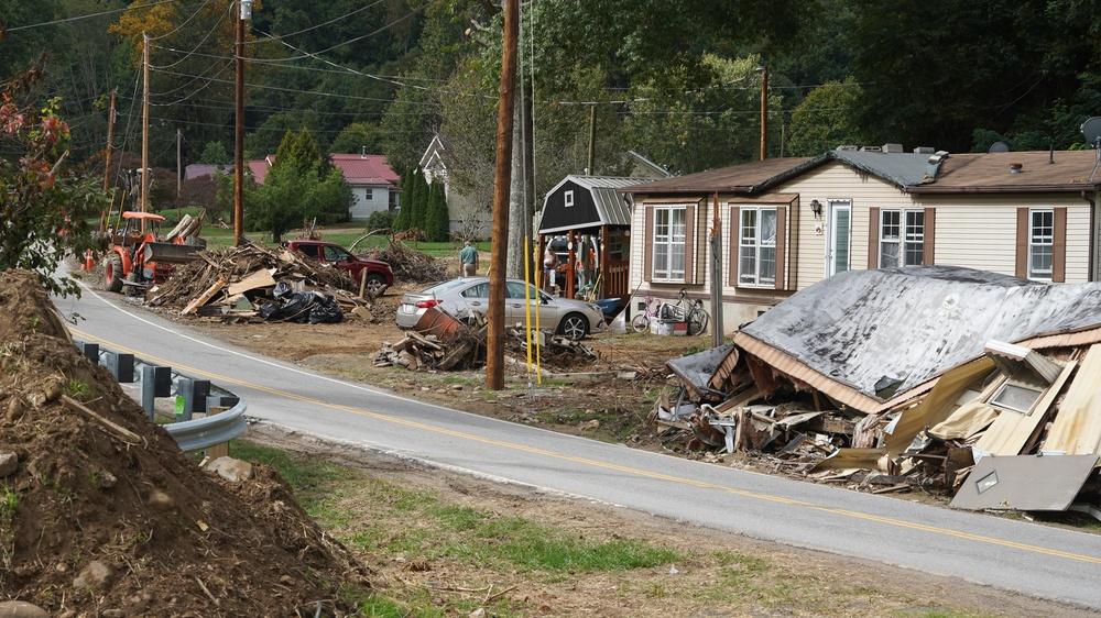 Damage In Cruso, North Carolina
