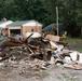 Debris Removed From Flood Damaged House