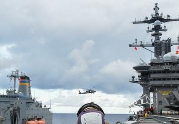 USS Carl Vinson (CVN 70) and USNS Yukon (T-AO 202) Conduct Replenishment-at-Sea