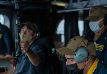 USS Jackson (LCS 6) Sailor Serves As Ship's Navigator
