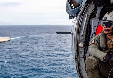Routine Flight Operations aboard USS Charleston