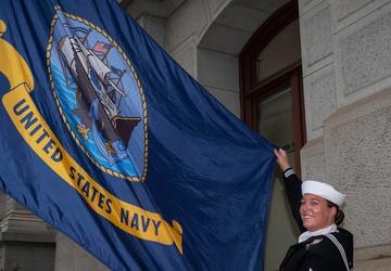 NTAG Philadelphia Celebrates the Navy's 246th Birthday in front of the Philadelphia City Hall